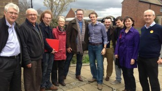 Campaigning in Farsley