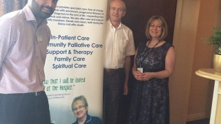 With staff at Kirkwood hospice