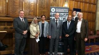 At a Srebrenica commemoration event
