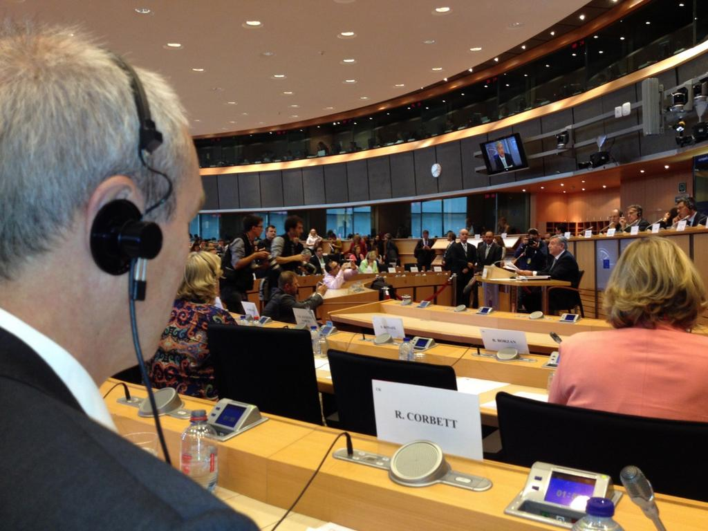 Me in Commissioner-designate Vella's hearing