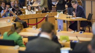 Lord Hill in parliamentary hearing (photo courtesy of European Parliament)