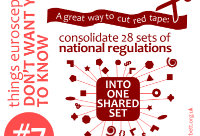 A great way to cut red tape: consolidate 28 sets of national regulations into one shared set.